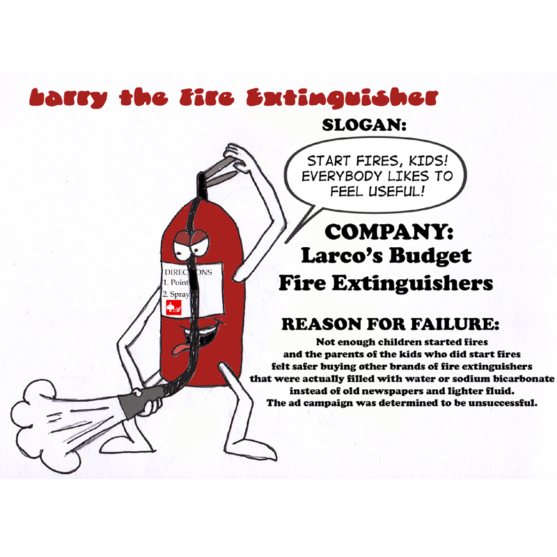 Failed Mascot Week - Larry the Fire Extinguisher