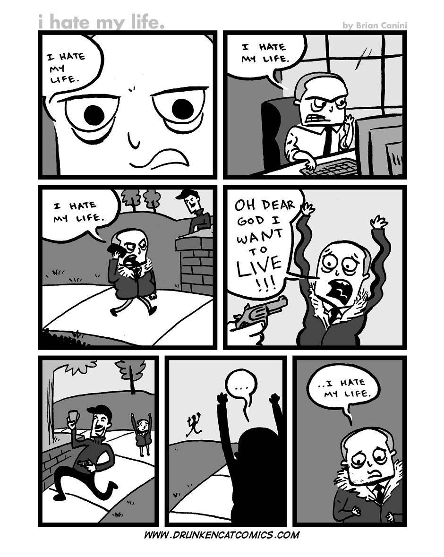 I Hate My Life Drunken Cat Comics