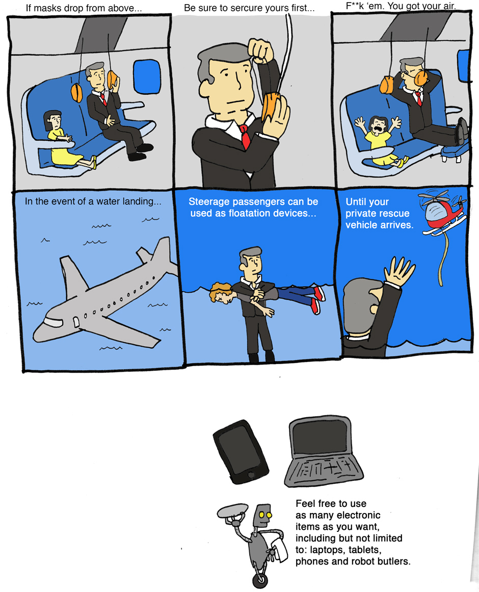 First Class Plane Safety
